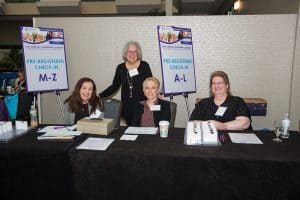 ADRC's superb volunteer team greeted over 300 attendees